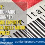 CORONAVIRUS - Made in italy: piano straordinario di Confartigianato per rilanciare export e competitività delle micro e piccole imprese