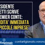"""Il Presidente Merletti scrive al Premier Conte: """"Liquidita' immediata alle piccole imprese"""""""