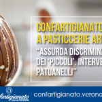 """CORONAVIRUS - Confartigianato contro stop a pasticcerie artigiane: """"Assurda discriminazione dei 'piccoli'. Intervenga Ministro Patuanelli"""""""