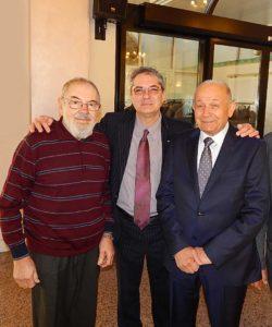 """Un'immagine storica dello scorso febbraio: tre """"presidenti"""" insieme. A sinistra Renzo Bissoli, al centro l'attuale Presidente Andrea Bissoli e a destra Giovanni Tommasi"""