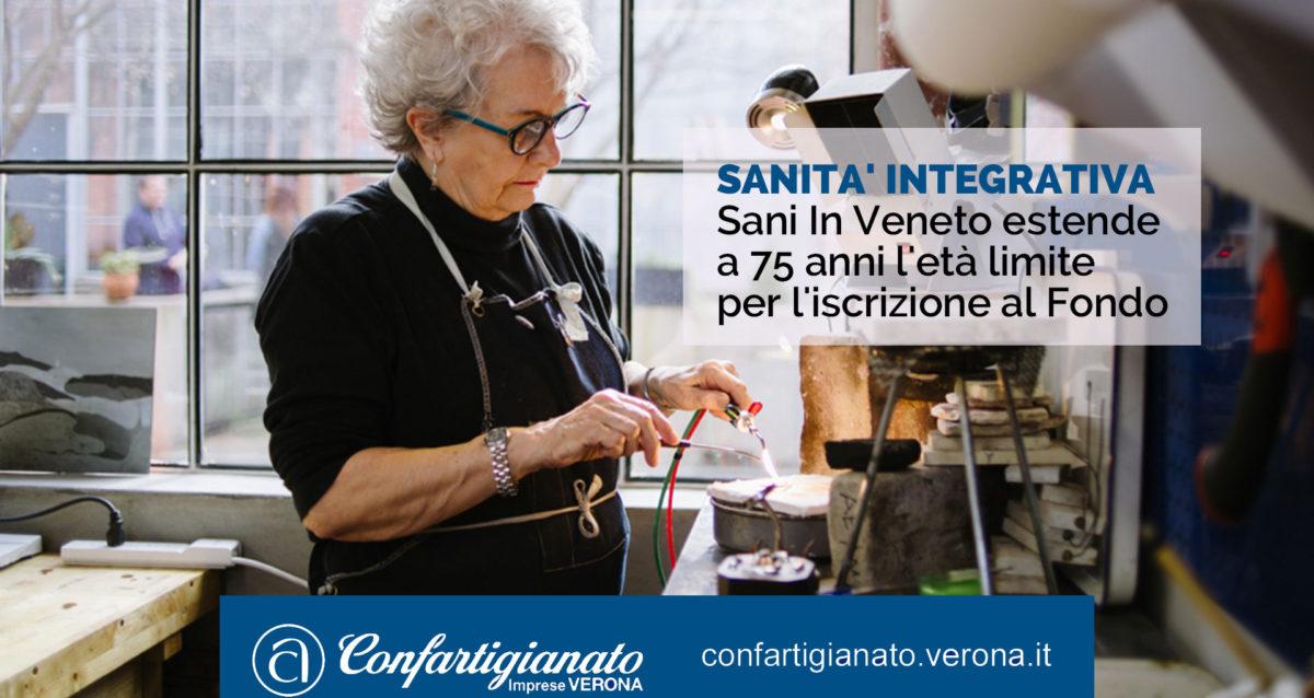 SANITA' INTEGRATIVA Sani In Veneto estende a 75 anni l'età limite per l'iscrizione al Fondo