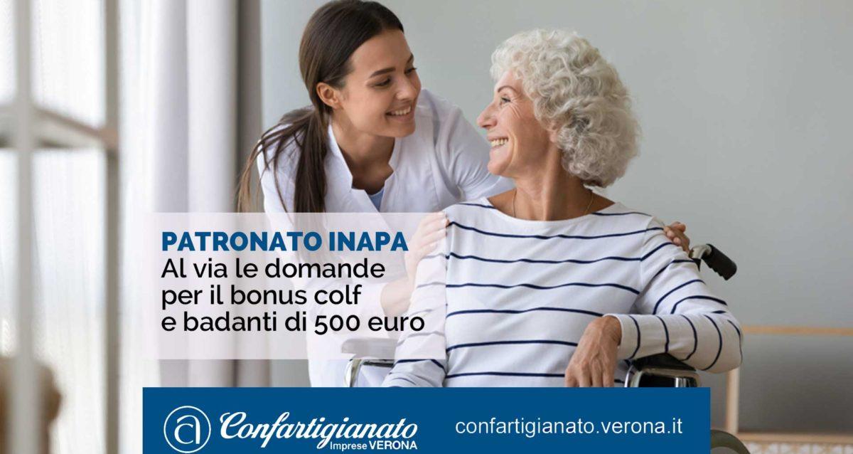 PATRONATO INAPA – Al via le domande per il bonus colf e badanti di 500 euro