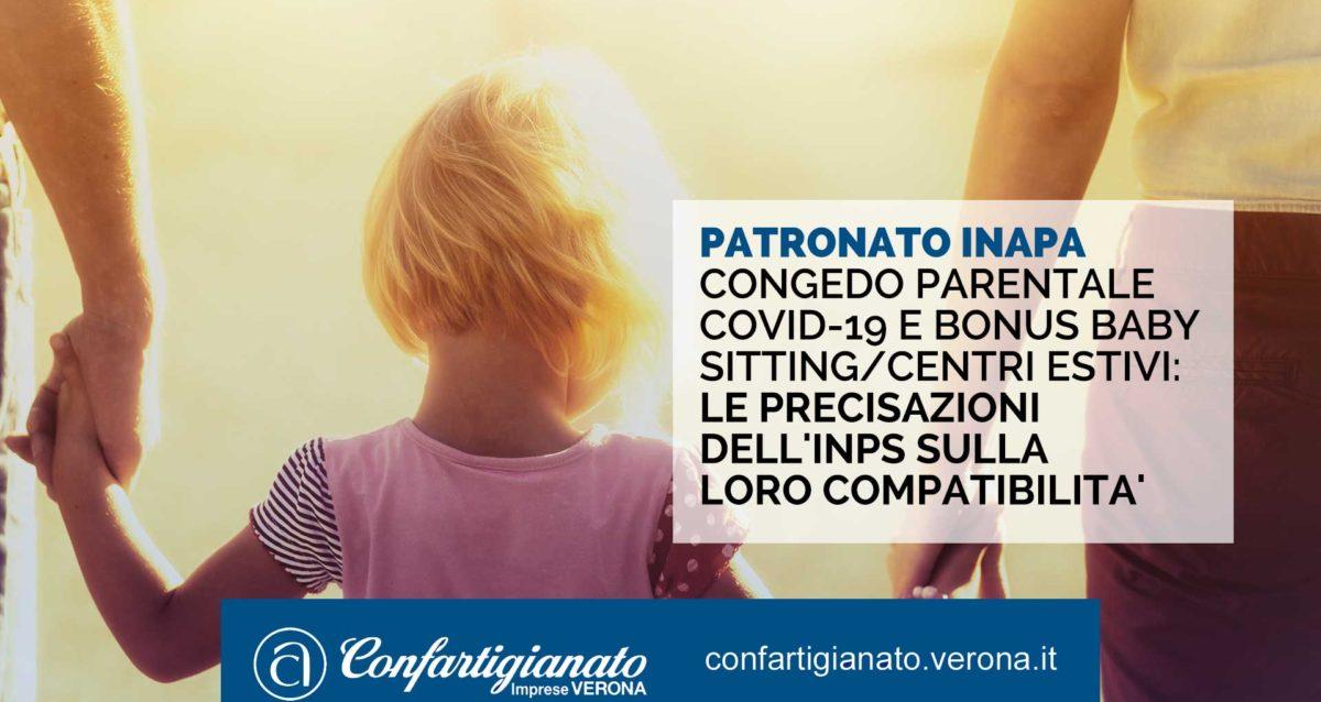 PATRONATO INAPA – Congedo parentale Covid-19 e bonus baby sitting/centri estivi: precisazioni dell'INPS sulla loro compatibilita'