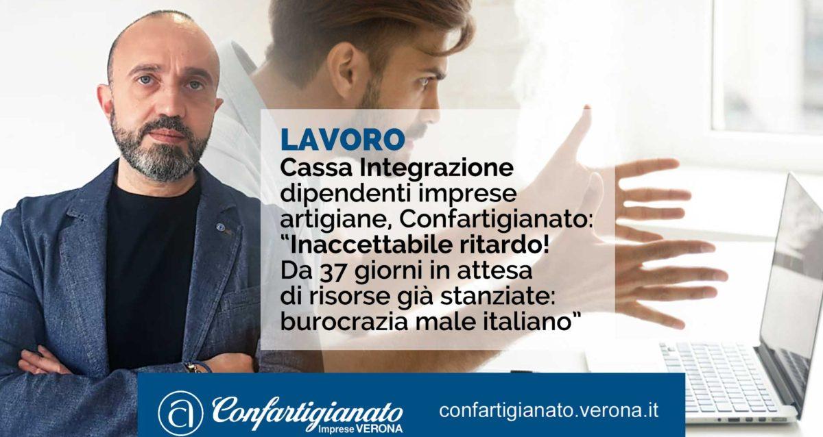 """LAVORO – Cassa Integrazione dipendenti imprese artigiane, Confartigianato: """"Inaccettabile ritardo! Da 37 giorni in attesa di risorse già stanziate: burocrazia male italiano"""""""