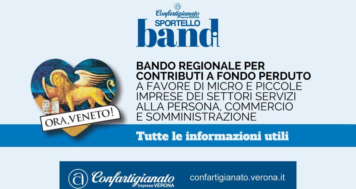 REGIONE VENETO – Bando regionale per contributi a fondo perduto a favore di micro e piccole imprese dei settori Servizi alla Persona, Commercio e Somministrazione