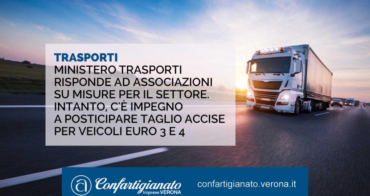 TRASPORTI – Ministero Trasporti risponde alle imprese sulle misure per il settore. Intanto, c'è l'impegno a posticipare il taglio accise per veicoli Euro 3 e 4