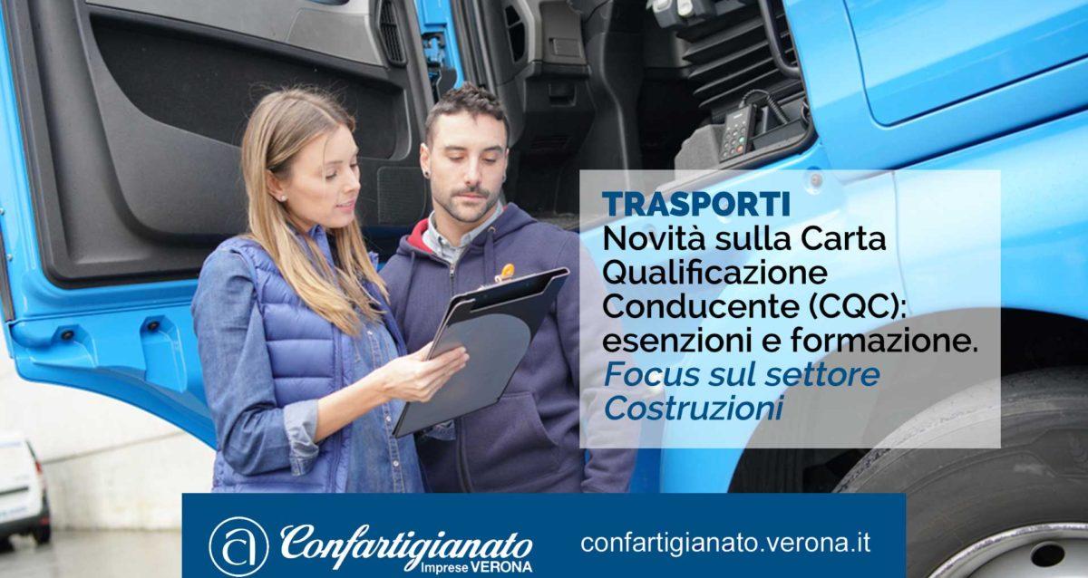 TRASPORTI - Novità sulla Carta Qualificazione Conducente (CQC): esenzioni e formazione. Focus sul settore Costruzioni