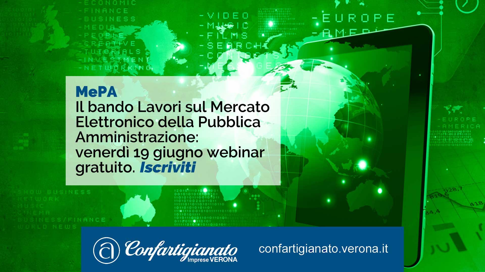 MEPA – Il bando Lavori sul Mercato Elettronico della Pubblica Amministrazione: il 18 giugno, webinar gratuito per le imprese