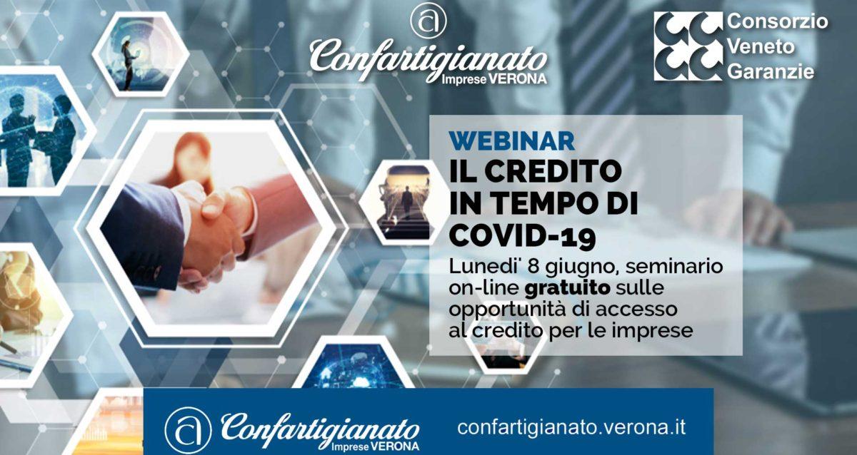 WEBINAR – Il Credito in tempo di Covid-19: lunedi' 8 giugno, seminario on-line gratuito sulle opportunità di accesso al credito