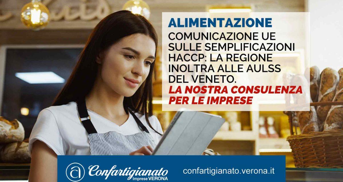 ALIMENTAZIONE – Comunicazione UE sulle semplificazioni HACCP: la Regione inoltra alle AULSS del Veneto. La nostra consulenza per le imprese