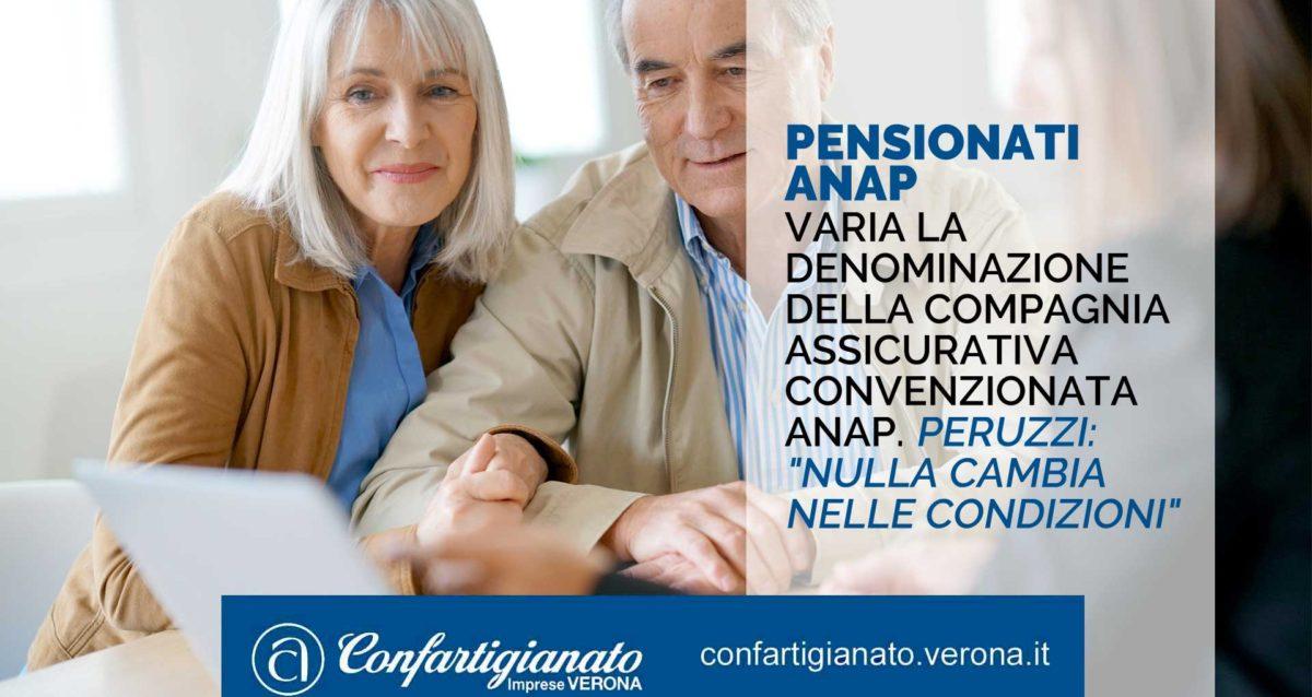 """PENSIONATI ANAP – Varia la denominazione della compagnia assicurativa convenzionata ANAP. Peruzzi: """"Nulla cambia nelle condizioni"""""""