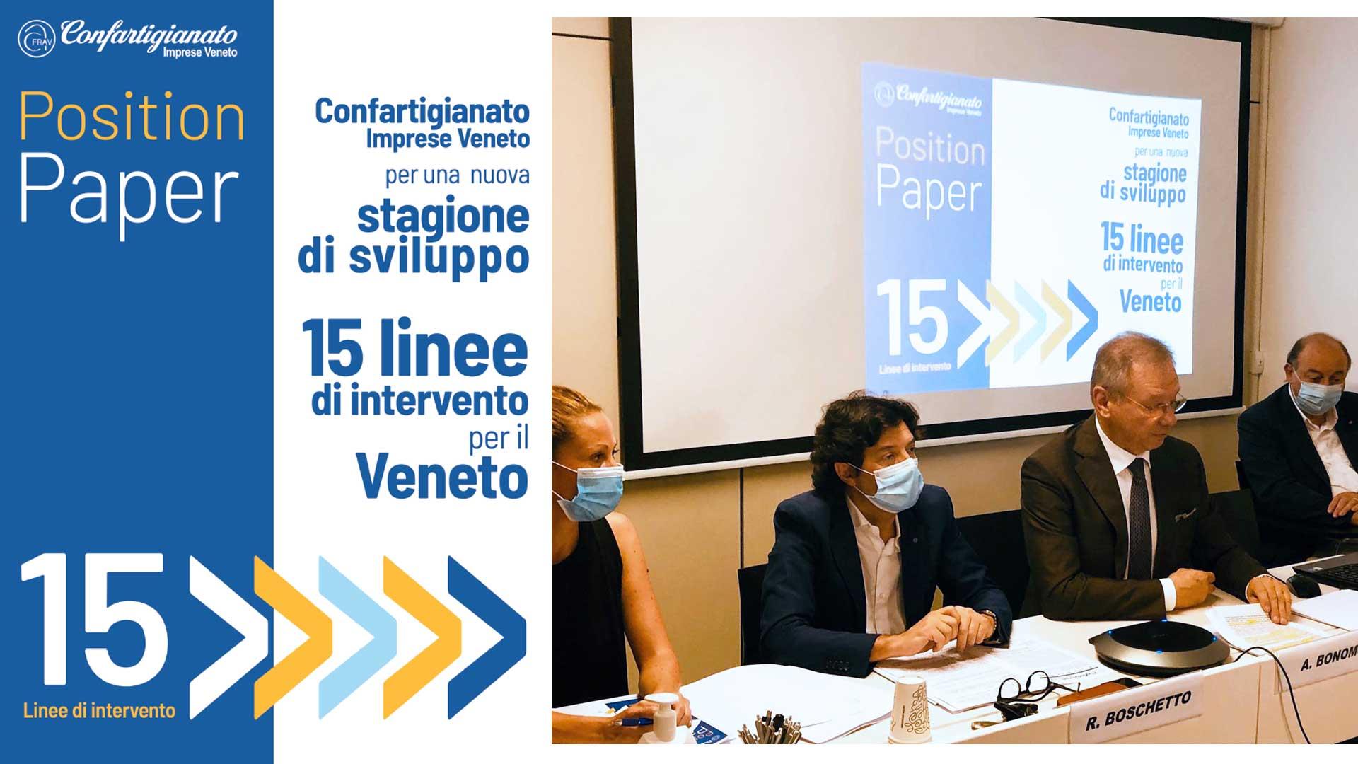 VENETO –Position Paper per una nuova stagione di sviluppo: il documento di Confartigianato Imprese Veneto per le elezioni regionali 2020