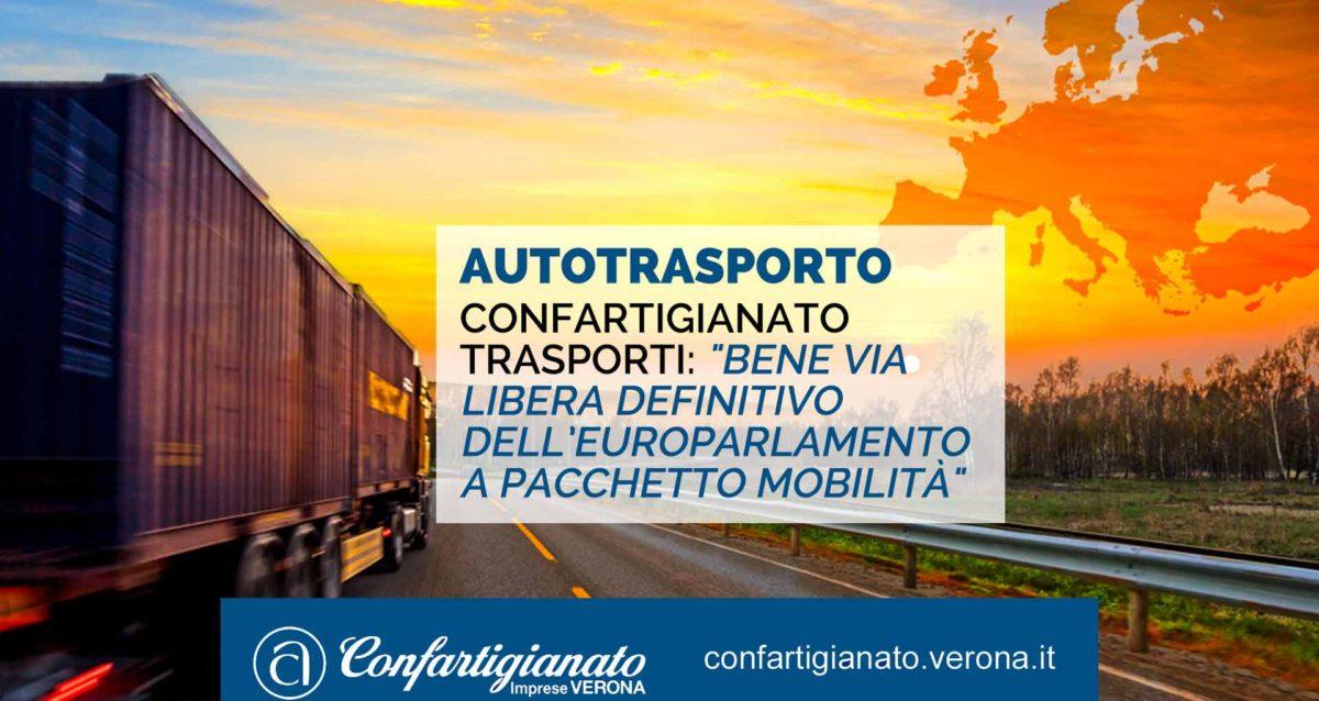 """AUTOTRASPORTO – Confartigianato Trasporti: """"Bene via libera definitivo dell'Europarlamento a Pacchetto Mobilità"""""""