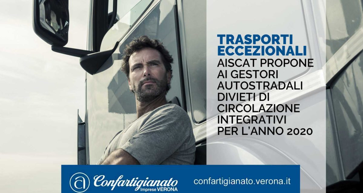 TRASPORTI ECCEZIONALI – AISCAT propone ai gestori autostradali divieti di circolazione integrativi per l'anno 2020