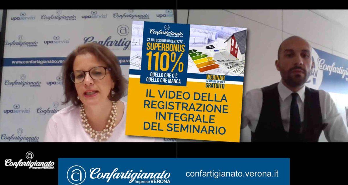 SUPERBONUS 110% – Il video della registrazione integrale del nostro webinar di mercoledì 5 agosto