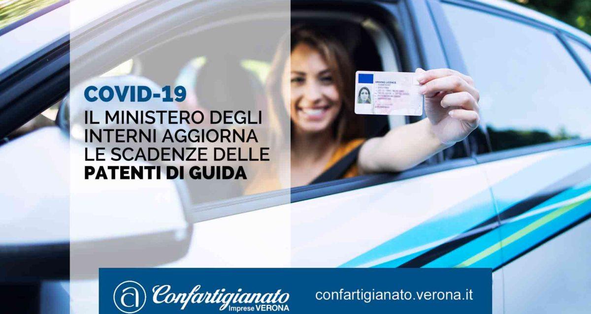 COVID-19 – Il Ministero degli Interni aggiorna le scadenze delle patenti di guida