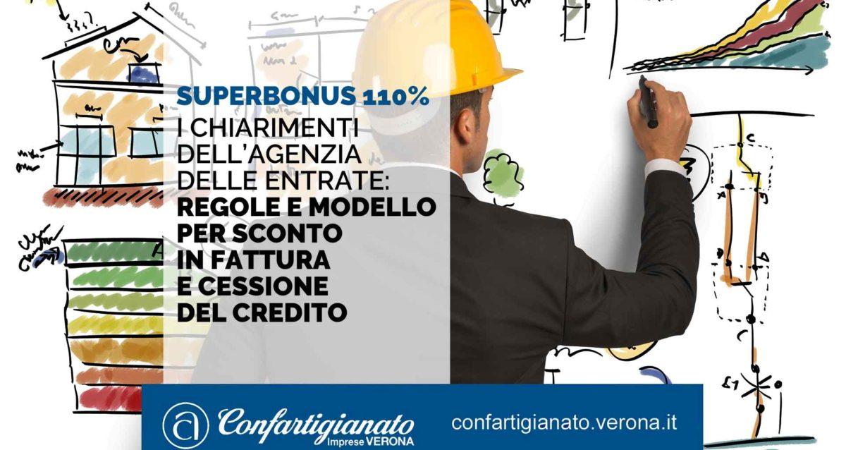 SUPERBONUS 110% – Emanati i chiarimenti dell'Agenzia delle Entrate: regole e modello per sconto in fattura e cessione del credito