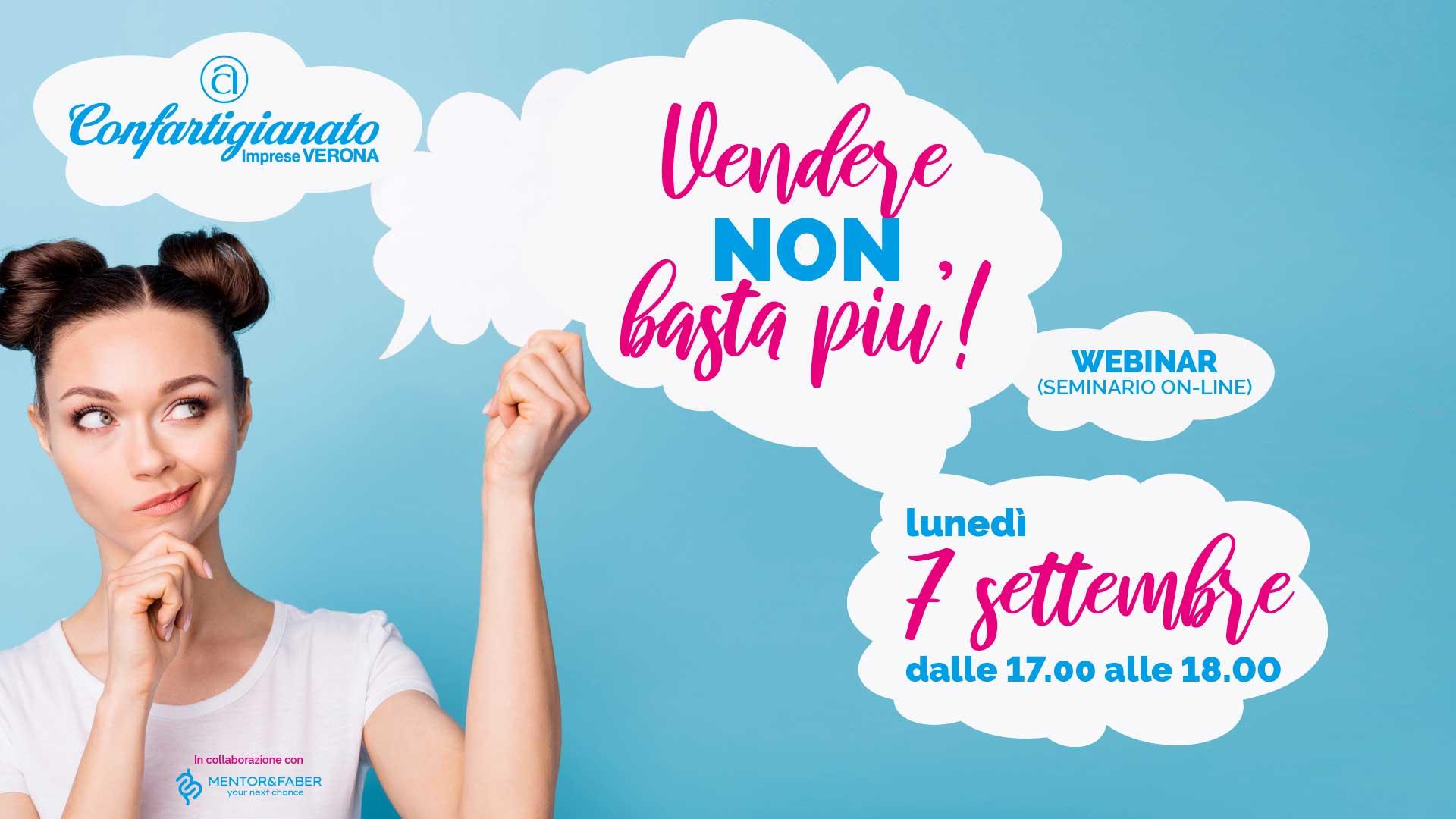 WEBINAR – 'Vendere non basta piu'!', il 7 settembre seminario on-line per ripensare il concetto di vendita e il ruolo del venditore. Iscriviti