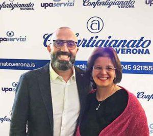 Il Presidente di Confartigianato IMprese Verona, Roberto Iraci Sareri, e il Segretario Valeria Bosco