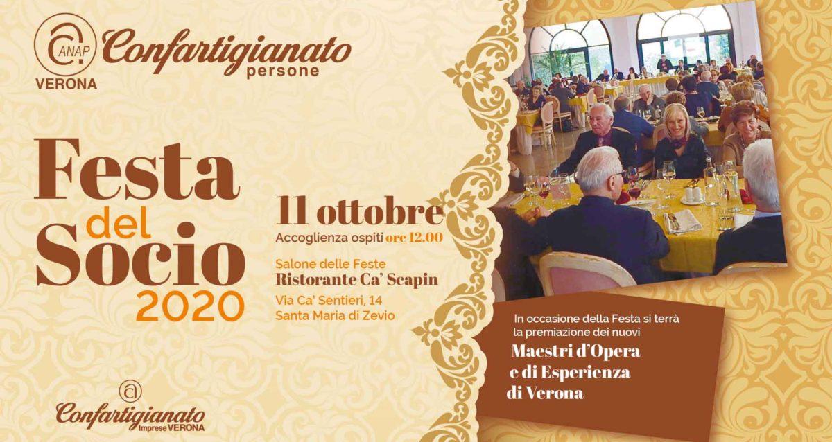 PENSIONATI ANAP – Festa del Socio 2020 e riconoscimento Maestri d'Opera e d'Esperienza: domenica 11 ottobre, iscrizioni aperte