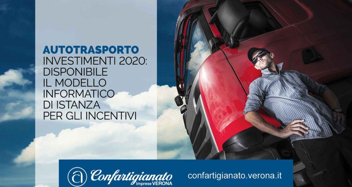 AUTOTRASPORTO – Investimenti 2020: disponibile il modello informatico di istanza per gli incentivi