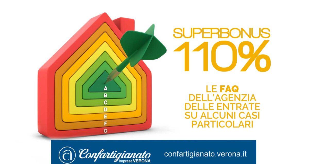 SUPERBONUS 110% – Le FAQ dell'Agenzia delle Entrate che chiariscono alcuni casi particolari