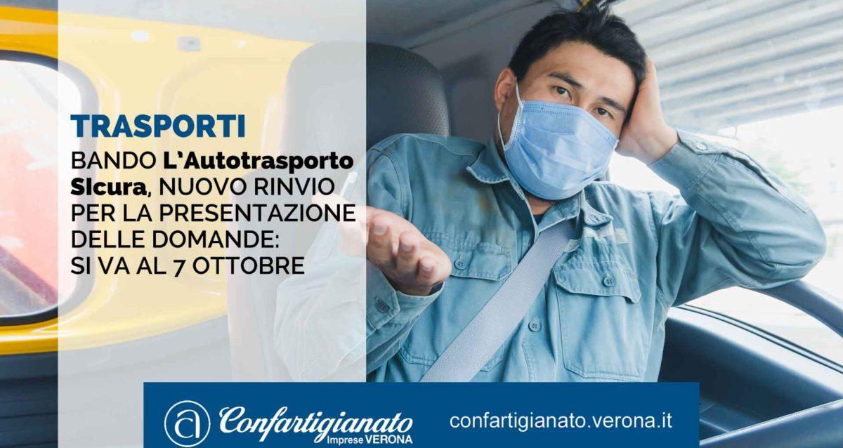 Bando l'Autotrasporto SIcura, nuovo rinvio per presentazione domande: si va al 7 ottobre