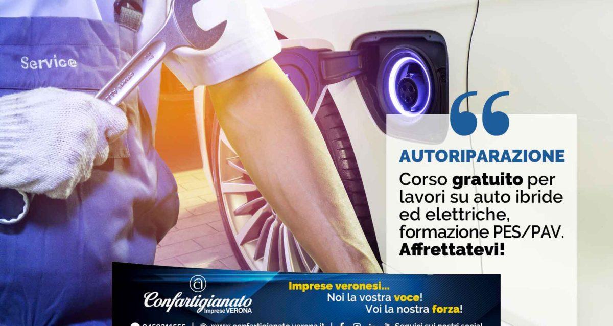 AUTORIPARAZIONE – Corso gratuito per lavori su auto ibride ed elettriche, formazione PES/PAV. Affrettatevi!