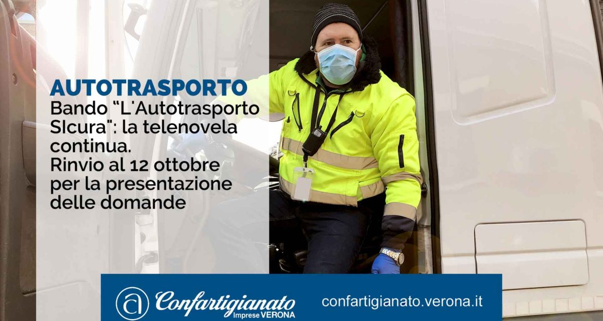 """AUTOTRASPORTO – Bando """"L'Autotrasporto SIcura"""": la telenovela continua. Rinvio al 12 ottobre per la presentazione domande"""