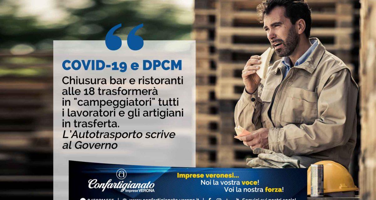 """COVID-19 e DPCM – Chiusura bar e ristoranti alle 18 trasformerà in """"campeggiatori"""" tutti i lavoratori e gli artigiani in trasferta. Autotrasporto scrive al Governo"""