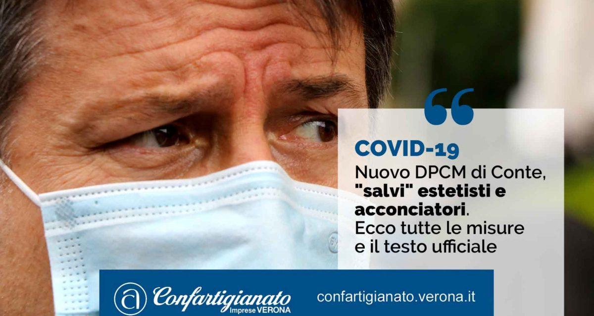 """COVID-19 – Nuovo DPCM di Conte, """"salvi"""" estetisti e acconciatori. Ecco tutte le misure e il testo ufficiale"""