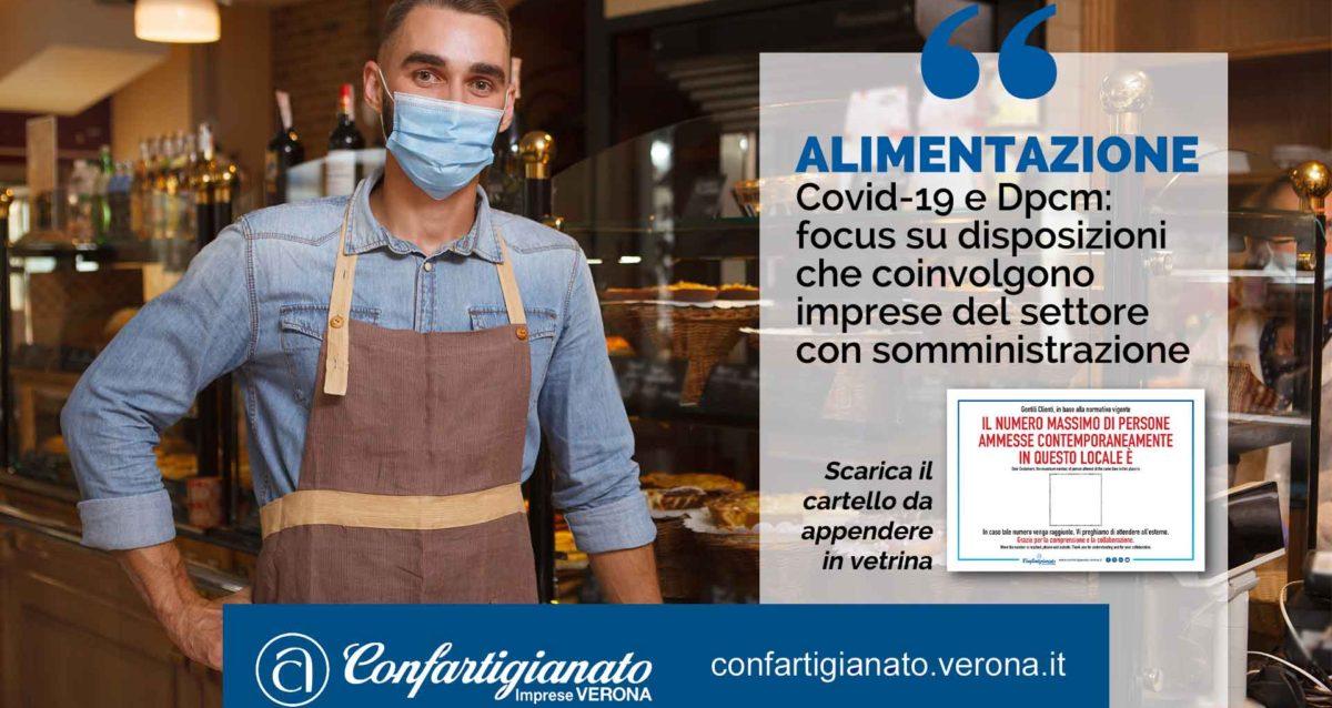 ALIMENTAZIONE – Covid-19 e ultimo Dpcm: focus su disposizioni che coinvolgono imprese del settore alimentare con somministrazione