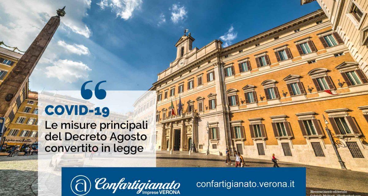 COVID-19 – Le misure principali del Decreto Agosto convertito in legge