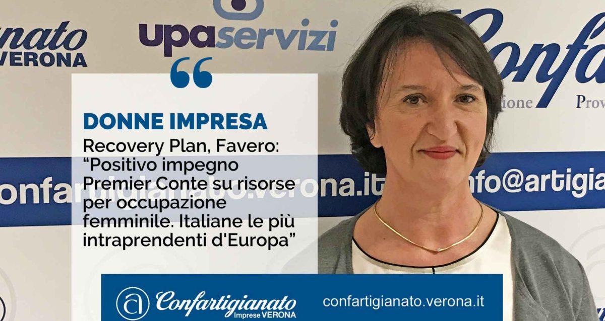 """Recovery Plan, Favero: """"Positivo impegno Premier Conte su risorse per occupazione femminile. Italiane le più intraprendenti d'Europa"""""""