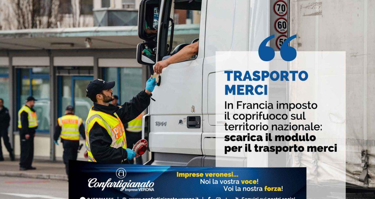 AUTOTRASPORTO – In Francia imposto il coprifuoco sul territorio nazionale: scarica il modulo per il trasporto merci