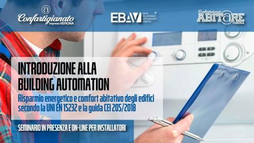 """IMPIANTI –Seminario in presenza e online su """"Introduzione alla building automation"""": 16 ottobre. Iscriviti subito"""