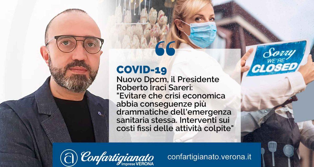 """COVID-19 – Nuovo Dpcm, il Presidente Iraci Sareri: """"Evitare che crisi economica abbia conseguenze più drammatiche dell'emergenza sanitaria stessa. Interventi sui costi fissi delle attività colpite"""""""