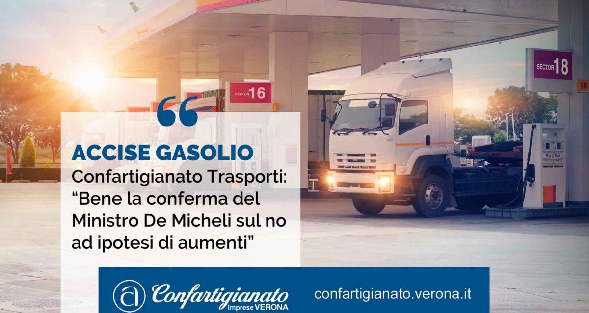 """ACCISE GASOLIO – Confartigianato Trasporti: """"Bene la conferma del Ministro De Micheli sul no ad ipotesi di aumenti"""""""