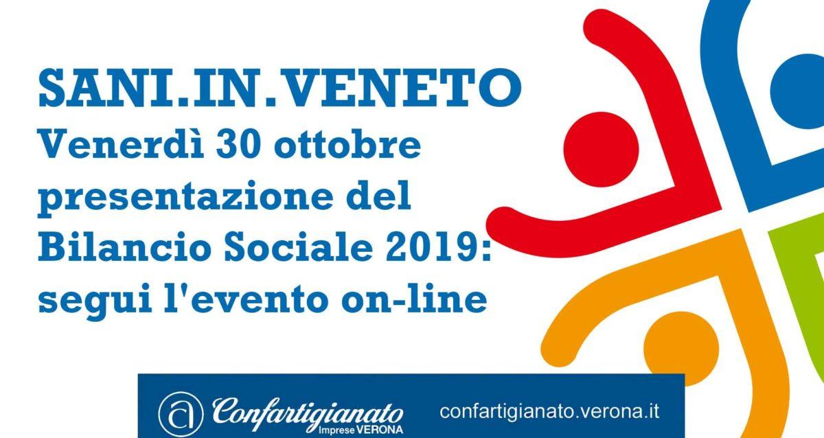 SANI.IN.VENETO – Venerdì 30 ottobre presentazione del Bilancio Sociale 2019: segui l'evento on-line