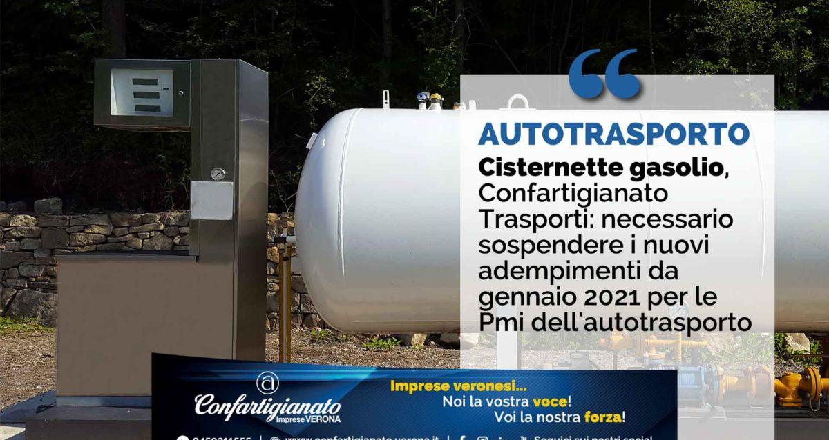 TRASPORTI – Cisternette gasolio, Confartigianato Trasporti: necessario sospendere i nuovi adempimenti da gennaio 2021 per le Pmi dell'autotrasporto
