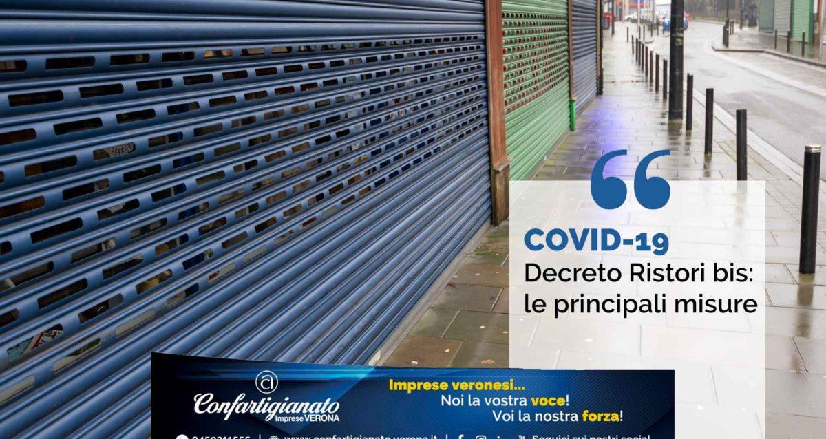 COVID-19 – Decreto Ristori bis: le principali misure