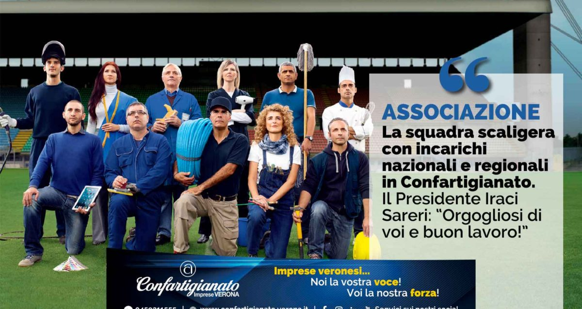 """ASSOCIAZIONE – La squadra scaligera con incarichi nazionali e regionali in Confartigianato. Il Presidente Iraci Sareri: """"Orgogliosi di voi e buon lavoro!"""""""