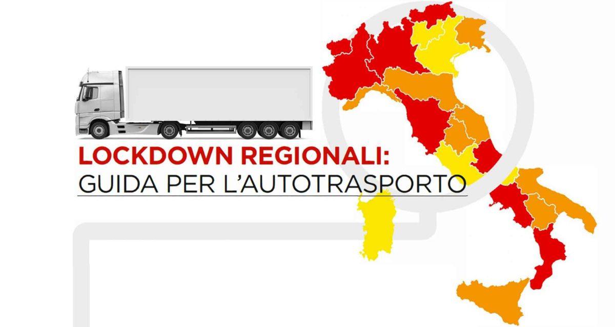 TRASPORTI – Covid-19: le regole per l'autotrasporto con i lockdown regionali (al 18 novembre)