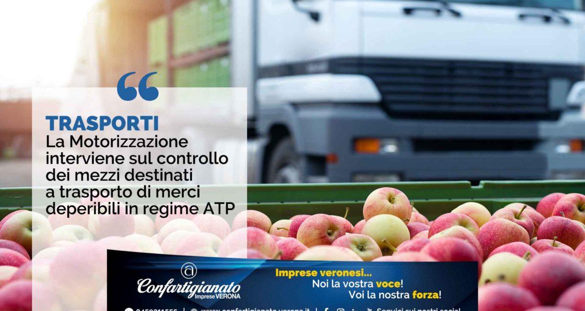 TRASPORTI - La Motorizzazione interviene su controllo mezzi destinati a trasporto merci deperibili in regime ATP