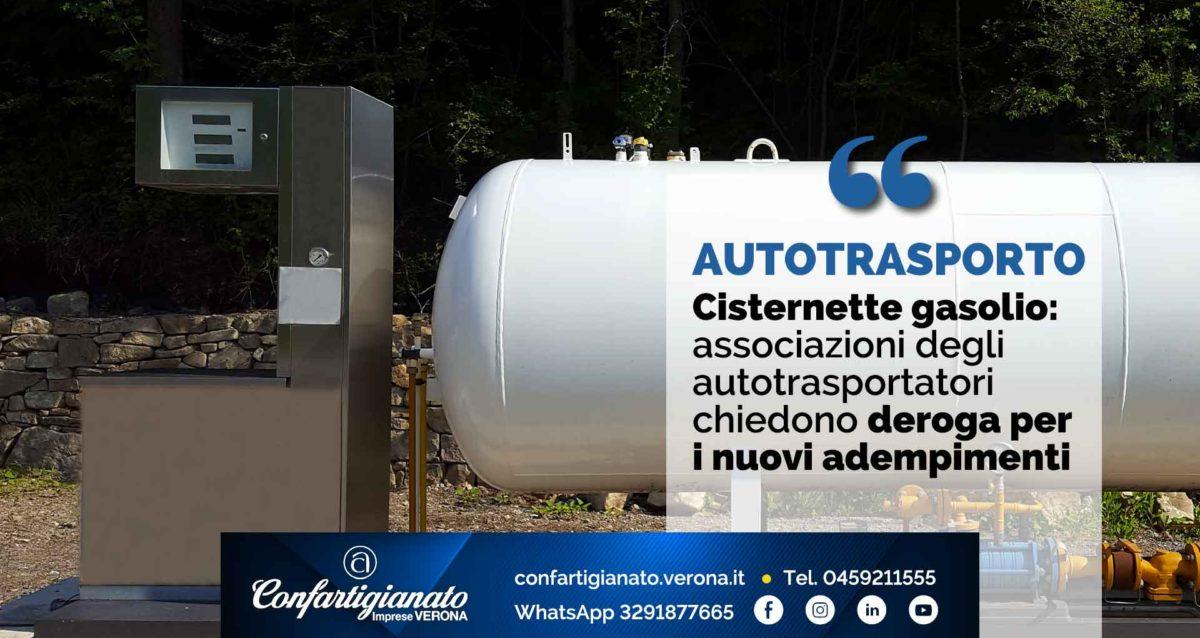 AUTOTRASPORTO – Cisternette gasolio: associazioni autotrasporto chiedono deroga per i nuovi adempimenti