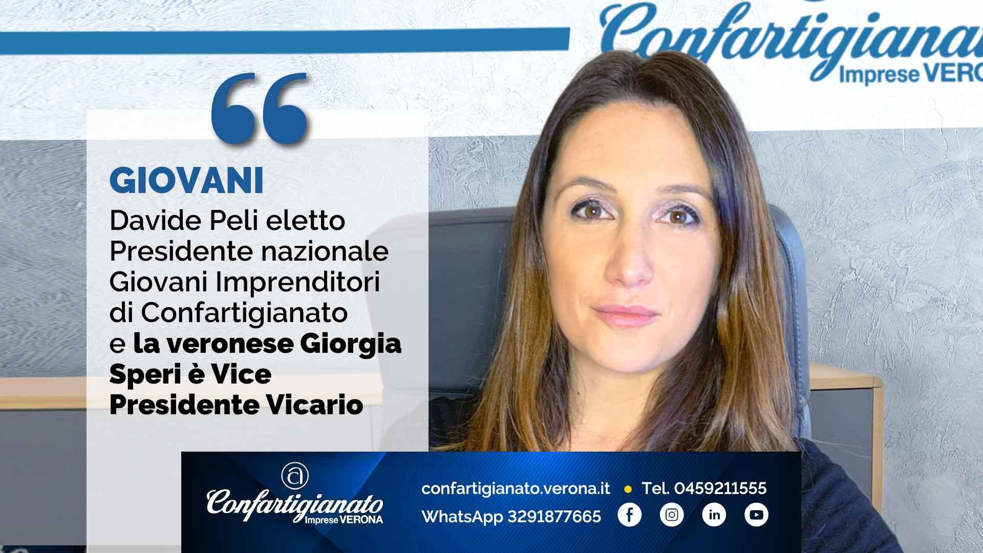 GIOVANI – Davide Peli eletto Presidente nazionale dei Giovani Imprenditori e la veronese Giorgia Speri è il Vice Presidente Vicario