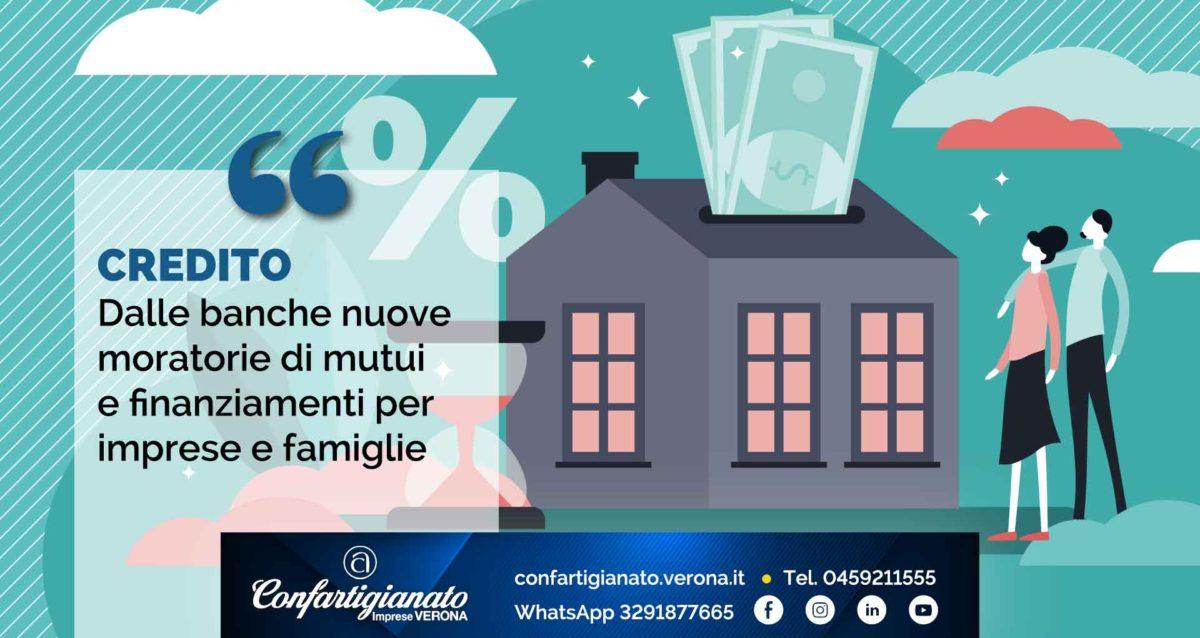 CREDITO – Dalle banche nuove moratorie di mutui e finanziamenti per imprese e famiglie