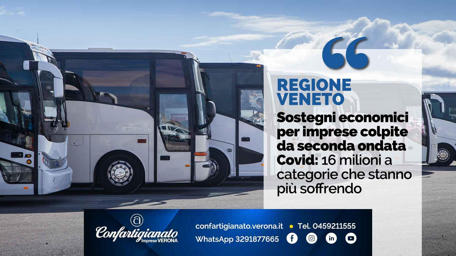 REGIONE VENETO – Sostegni economici per imprese colpite da seconda ondata Covid: 16 milioni a categorie che stanno più soffrendo