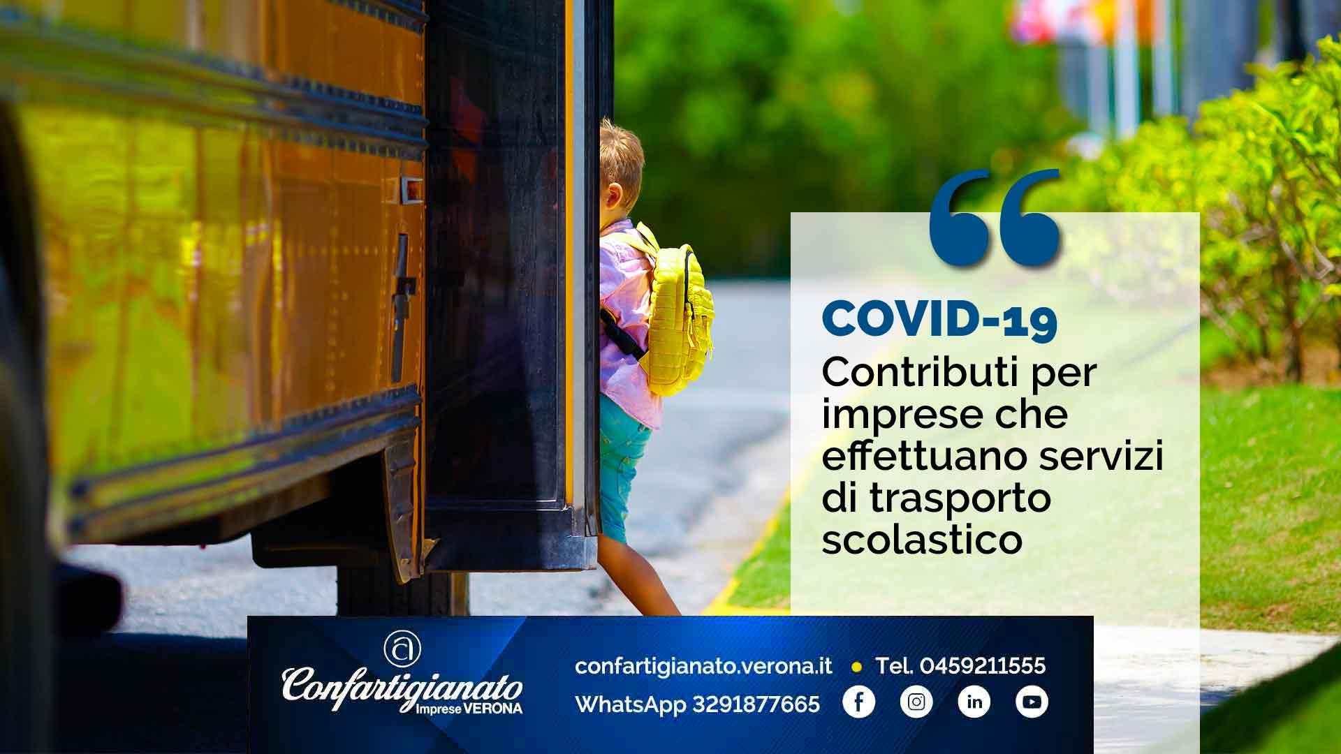 COVID-19 – Contributi per imprese che effettuano servizi di trasporto scolastico