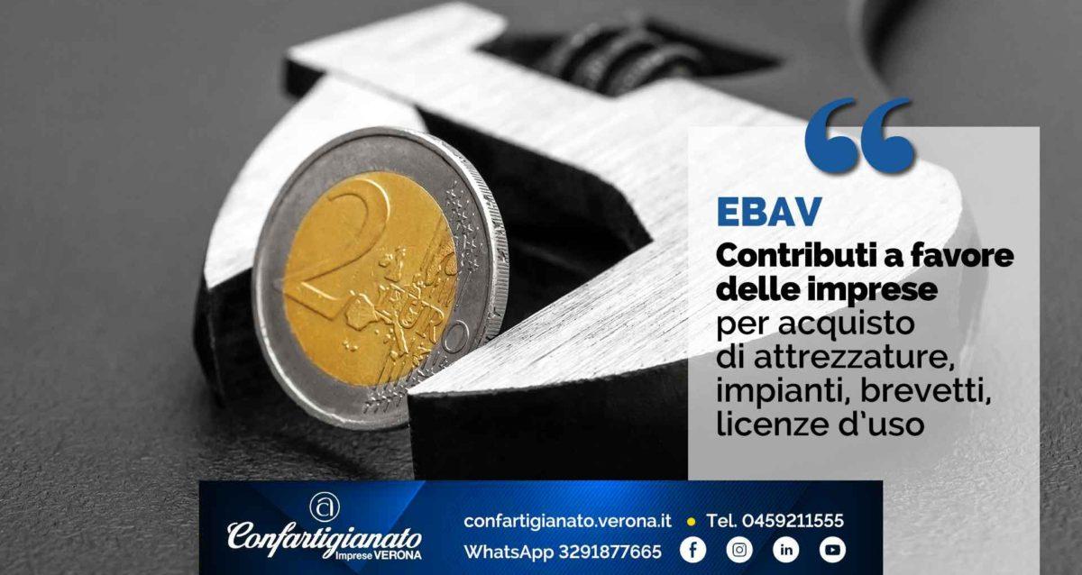 EBAV – Contributi a favore delle imprese per acquisto di attrezzature, impianti, brevetti, licenze d'uso